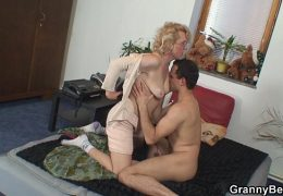 She gives up her old pussy for him