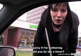 Bitch STOP – Skinny Slovak brunette gets anal fucked