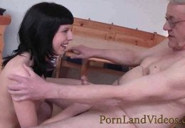 young german slut sucking and fucking old man 40 min