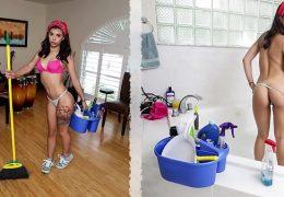 BANGBROS – Cute Brazilian Maid Gina Valentina Fucks Customer For Extra Money