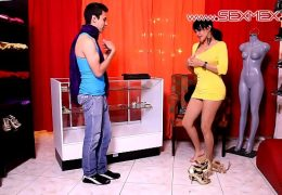 Gaby Garcia Latina Milf fucked in a boutique store part 1