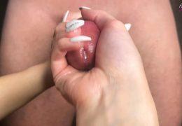Girl Passionate Handjob Big Dick Lover – Cumshot