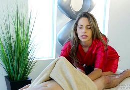 Shy guy on his first massage with Kimmy Granger – Fantasy Massage